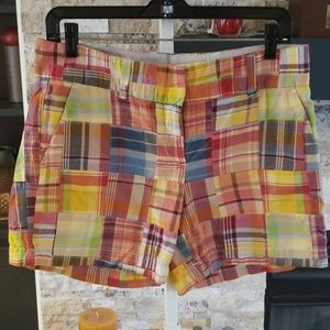 Talbots plaid shorts